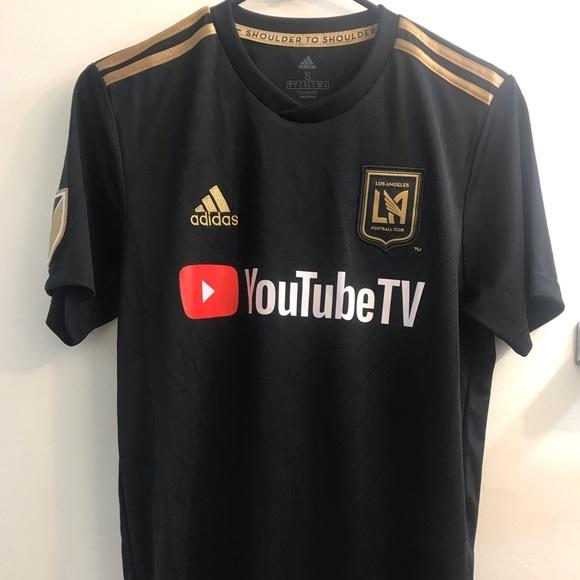 buy popular 8e963 d68c0 LAFC Men's Black Adidas Soccer Jersey